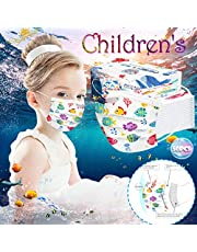 50Pcs Disposable Children C-Over, Cute Cartoon Print Children's Safety Macks,Outdoor Breathable and Comfortable Face Bandanas for Boys Grils