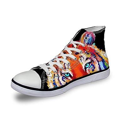 FOR U DESIGNS Cute Dog Plus Size Women Skate Shoes Casual Men SneakersUS105  B01FSJVSIA