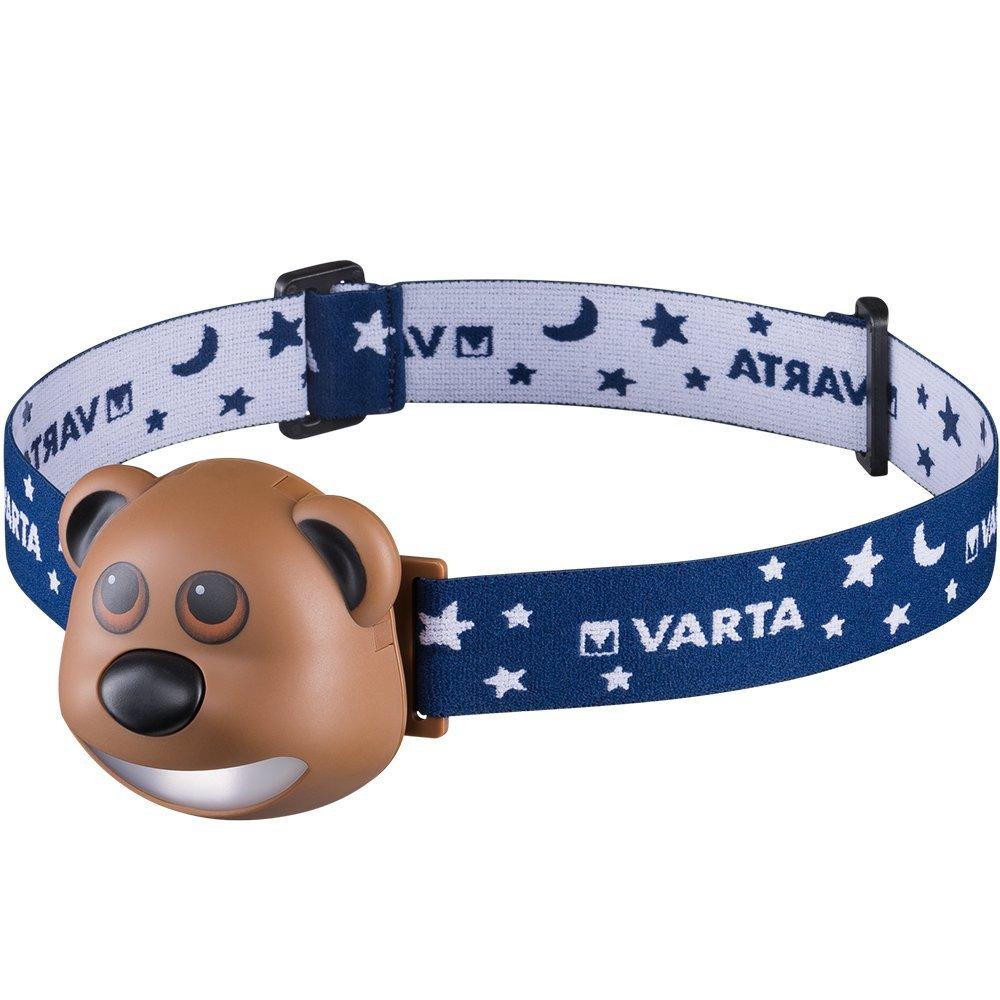 Varta Paul the Bear  Children's LED Head Torch with 3 x AAA Alkaline Batteries 17500