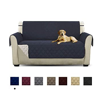 HONCENMAX Funda Cubre Sofá - Protector para Sofás Acolchado - Anti-Sucio para Mascotas Protector de Sofá Muebles - 2 Plazas (90X 75)
