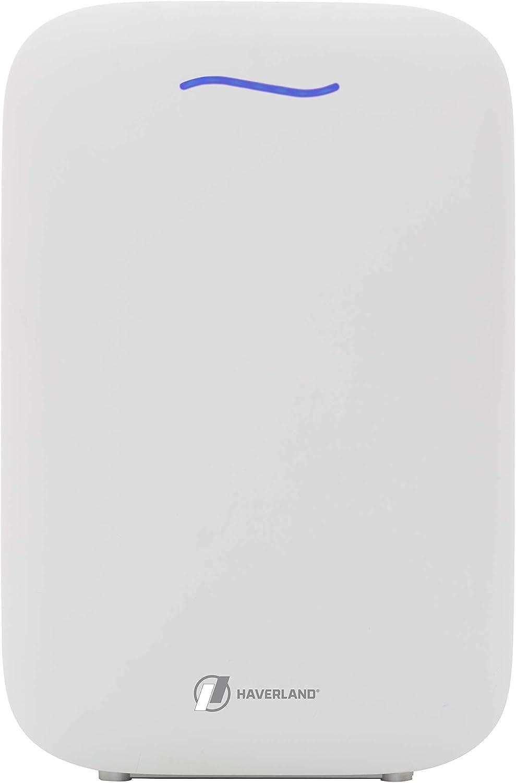 Haverland Airpure | Purificador de Aire IONIZADOR | Hasta 80m² | 1 Prefiltro + 2 Filtros. True HEPA, Desodorizante. Elimina Contaminantes y Alergenos | 5 Niveles