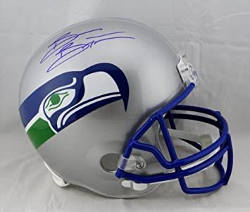 Brian Bosworth Autographed Seahawks 83-01 Mini Helmet Beckett W Auth Blue