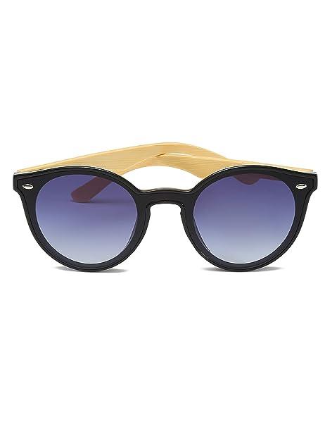 AMEXI Mujer Gafas de Sol de Bambú
