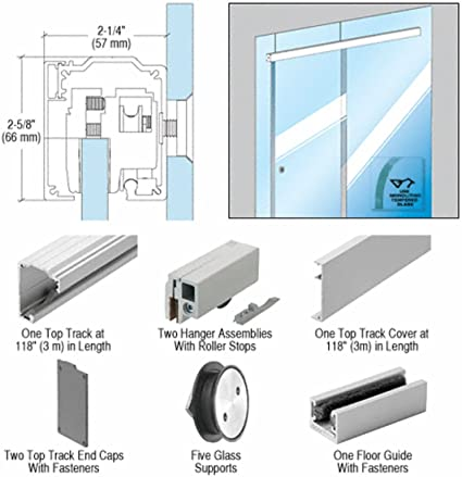Crl280 Series Single Sliding Door Glass Fixed Panel Mount