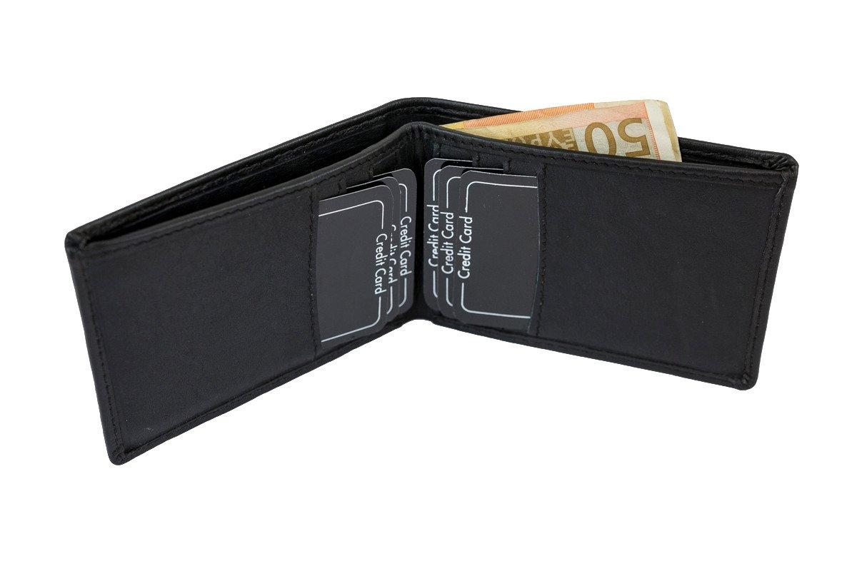 LEAS Kreditkartenhülle/-mappe Echt-Leder, schwarz Card-Collection LE2510-01-01