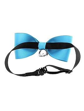 Amazon.com: eDealMax Gato Bowknot colgante de Bell pajarita corbata de Cuello de ropa Partido Azul: Home Audio & Theater