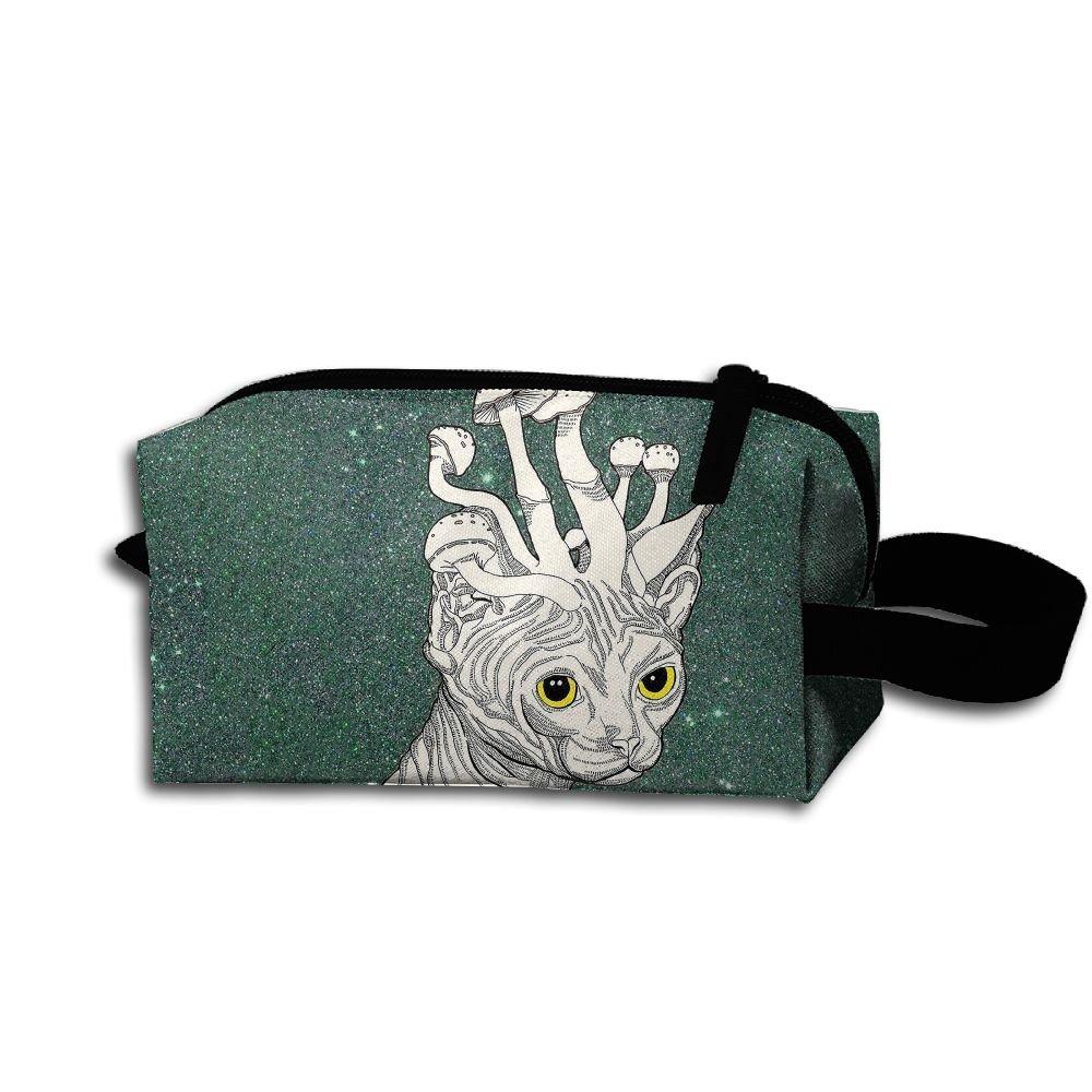 Makeup Cosmetic Bag Cool Cartoon Animal Zip Travel Portable Storage Pouch For Men Women
