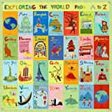 Oopsy Daisy Exploring The World From A Z by Jenny Kostecki Shaw Canvas Wall Murals, 42 by 42-Inch