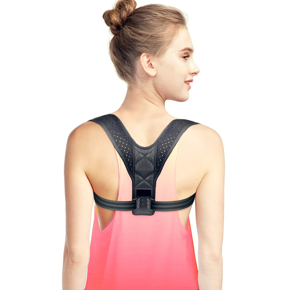 Back Posture Corrector for Women & Men – Effective and Comfortable Posture Brace for Slouching & Hunching - Discreet Design – Clavicle Wearable Support for Upper Back & Neck Pain Relief