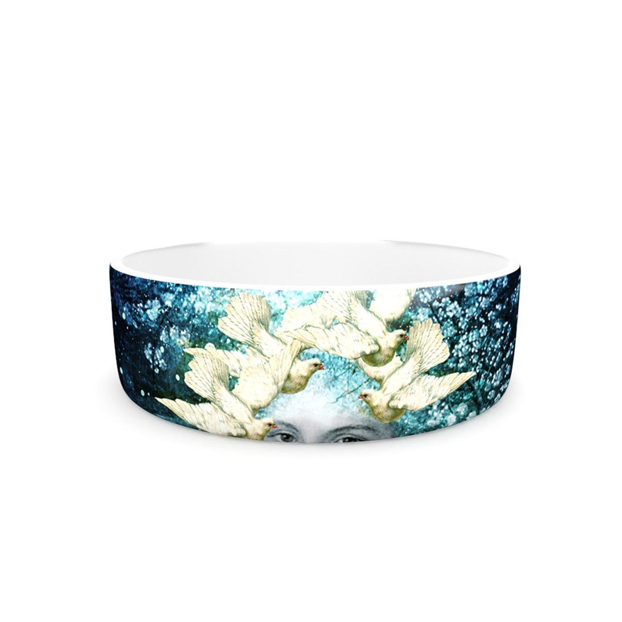 Kess InHouse Suzanne Carter Adorned  Pet Bowl, 7-Inch, bluee