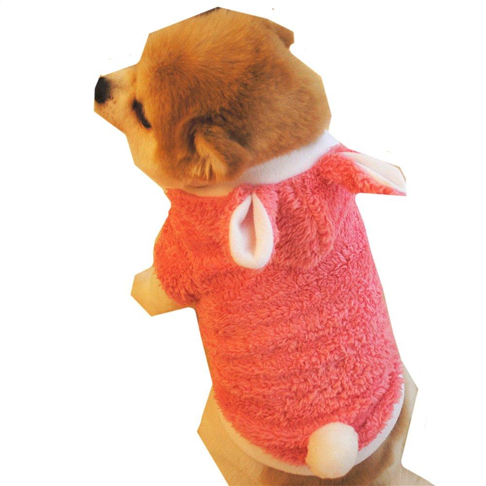 Sannysis mascotas ropa navidad mascotas ropa perros pequeños chihuahua perros ropa de invierno accesorios Sudadera con capucha Ropa de disfraces cálida Sombrero de conejo
