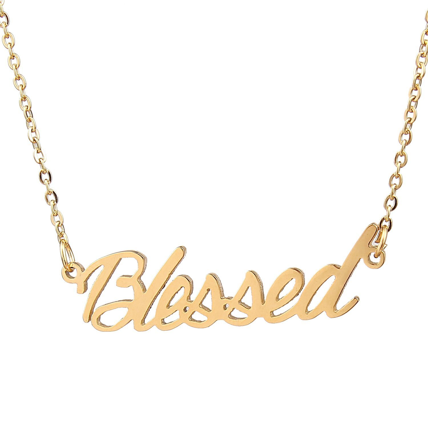 1c0d9870b HUAN XUN Gold Color Plated Family Love Name Necklace, Blessed - NL ...