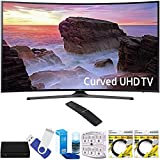 Samsung UN65MU6500FXZA Curved 65'' 4K Ultra HD Smart LED TV (2017 Model) Plus Terk Cut-the-Cord HD Digital TV Tuner and Recorder 16GB Hook-Up Bundle
