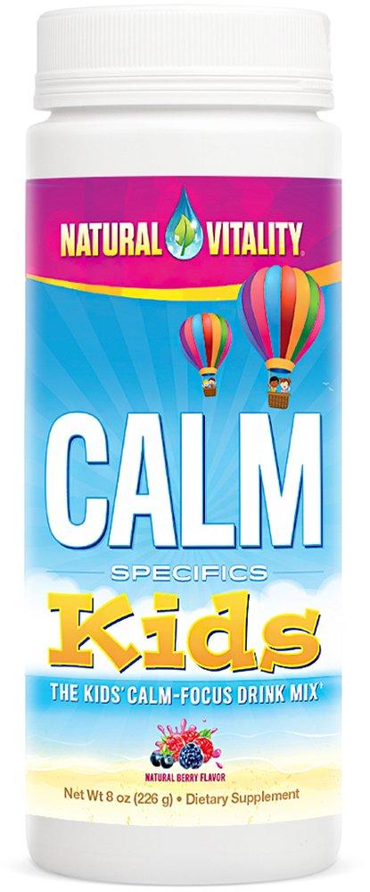 Natural Vitality CALM Kids, The Kids' Calm-Focus Drink Mix, Berry, 8oz