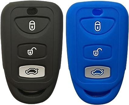 Key Fob Keyless Entry Remote Protective Cover Case Fits Hyundai Elantra//Genesis Sonata//Kia Forte//Optima Spectra Rondo//Sorento