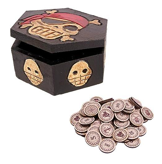 Baúl infantil + 20 monedas Set Cumpleaños Joven Chica del ...