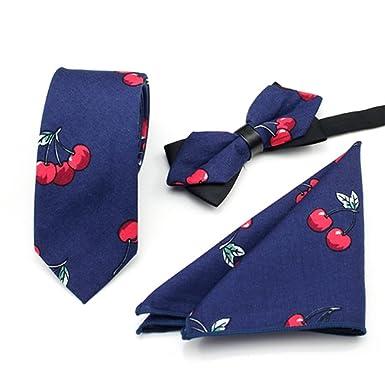 FlowerKui Conjunto de corbata de algodón de dibujos animados ...