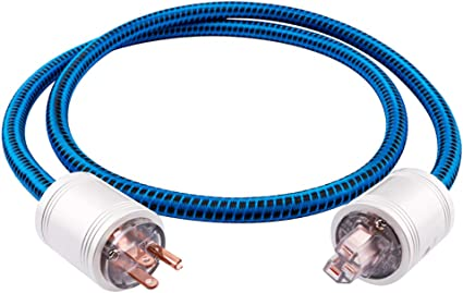 3.2ft//1M Amplifier Male to Female Power Cable,US Plug for Subwoofer DV//AV JIB Boaacoustic 4N OFC HiFi Power Cord