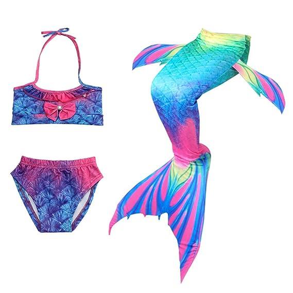 URAQT Traje de Baño Sirena, Traje de Baño Mermaid Bikini ...