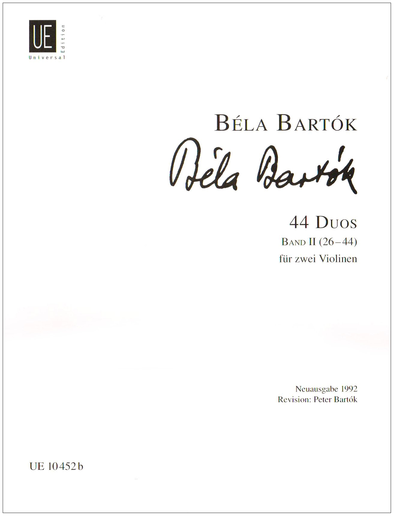44 Duette Bd 2. Violine