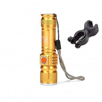 DEED Destacados Linterna Bicicleta Luces Faros Bicicleta de Monta?a Luces de Noche Luces Impermeables Linterna de Iluminación Al Aire Libre,Amarillo: ...