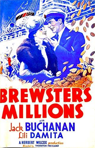 Posterazzi Brewster'S Millions Us Art from Left: Lili Damita Jack Buchanan 1935 Movie Masterprint Poster Print, (11 x 17), Varies