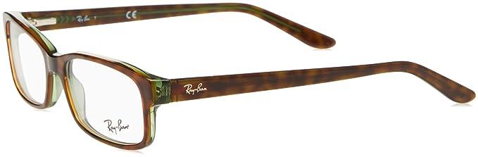 14e6fb4e74 Ray-Ban RX5187 Optical Rectangle Sunglasses for Unisex  Amazon.co.uk ...