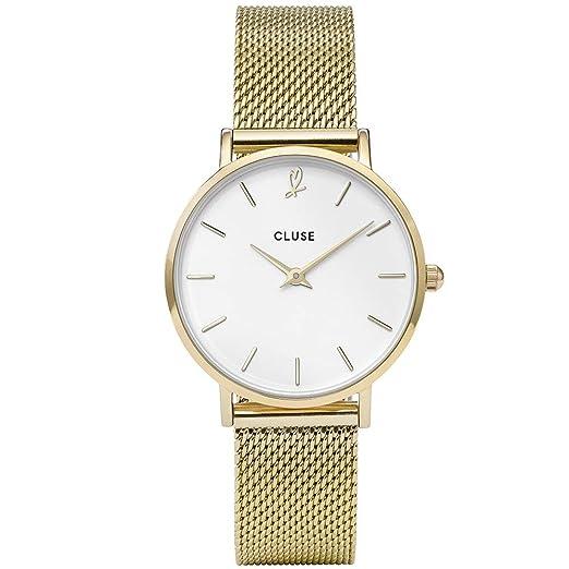 CLUSE Reloj Analógico para Mujer de Cuarzo con Correa en Acero Inoxidable CLG012: Amazon.es: Relojes