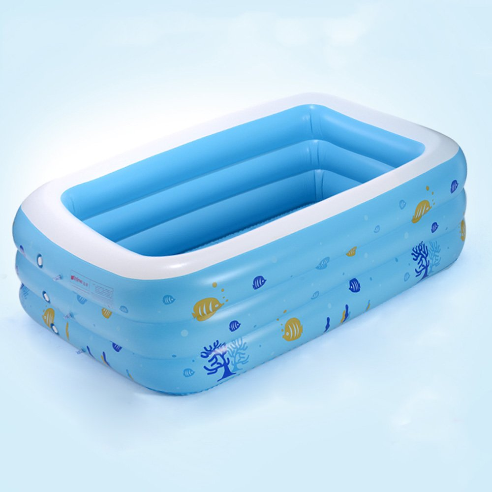 Wly&Home Thickening Insulation Folding Adult Inflatable Bathtub Children Wash Basin (Size: 15011043Cm),M by Wly&Home