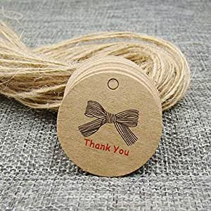7173b7dc1c6a Amazon.com: Lysee New 32cm Scallop Shape Kraft Paper Swing tag 50pcs ...
