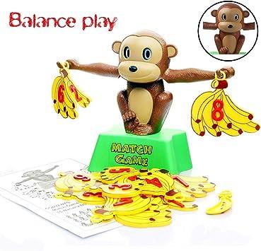 DUCKTOYS Juego de Equilibrio de Mono, Banana Stack Juego de la Familia Padre-niño Interactivo Juego de Mesa, Juguetes educativos para niños: Amazon.es: Deportes y aire libre