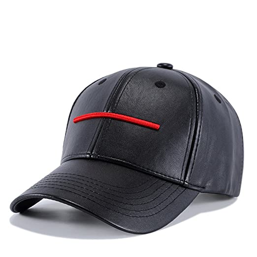 Image Unavailable. Image not available for. Color  Leather Adjustable Plain Baseball  Cap Hat for Men Women a098cddaefd