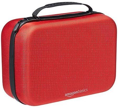 AmazonBasics Travel and Storage Case for Nintendo Switch - Red