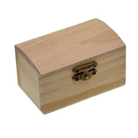 D DOLITY 1 x de Caja de Madera Suitable para Manualidades de Bricolaje Decoupage Pintura