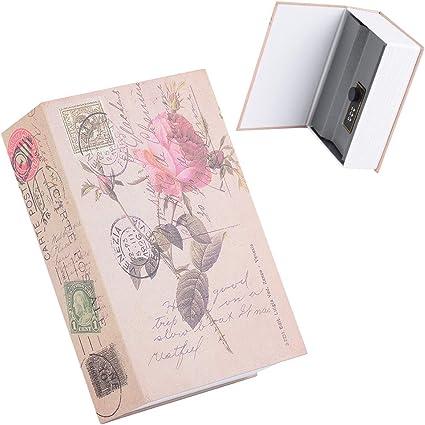 Caja fuerte para libros con cerradura de combinación, caja de ...