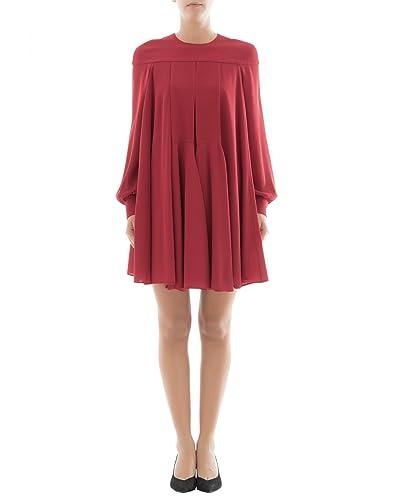 Valentino Vestito Donna Nb0vag421mhs84 Seta Rosso