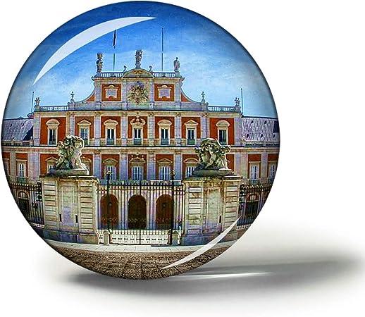 Hqiyaols Souvenir España Aranjuez Imanes Nevera Refrigerador Imán Recuerdo Coleccionables Viaje Regalo Circulo Cristal 1.9 Inches: Amazon.es: Hogar