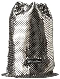 Whiting and Davis Chain Tassel 1-4116PW Crossbody Pouch,Pewter,One Size, Bags Central
