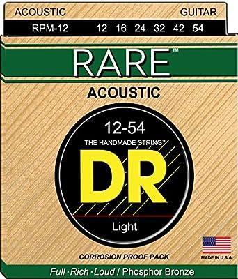 DR Strings. Rare - Phosphor Bronze AcousticHex Core 12-54