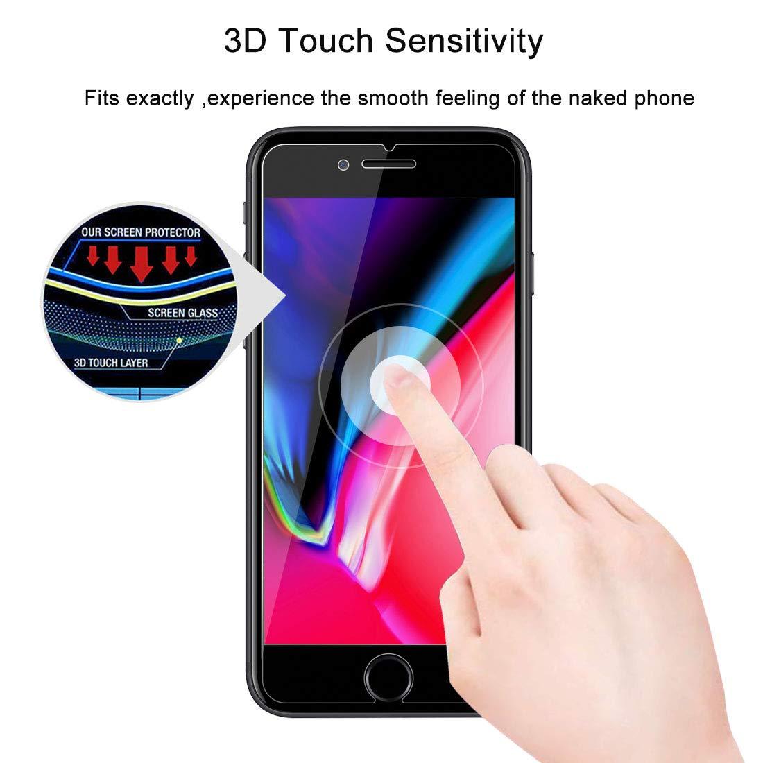 Protector de Pantalla para iPhone 11 // iPhone XR ,9H Dureza,Anti-Burbujas 2 Piezas Funda Compatible,Anti-despegamientos,Anti-ara/ñazos,Alta Transparencia Cristal Templado para iPhone 11// iPhone XR