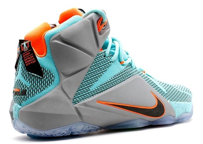 pretty nice e01e0 f0eb0 Amazon.com   Nike Lebron XII 12 Mens hi top Basketball Trainers 684593 Sneakers  Shoes James (UK 8.5 US 9.5 EU 43, Hyper Turquoise Black Metallic Cool Grey  ...