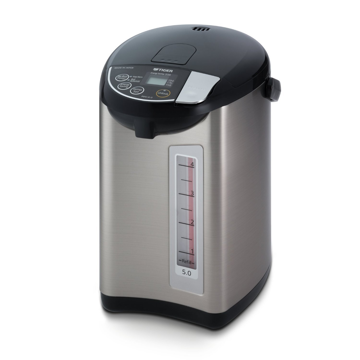 $209.98(was $234.61) Tiger PDU-A50U-K Electric Water Boiler and Warmer, Stainless Black, 5.0-Liter