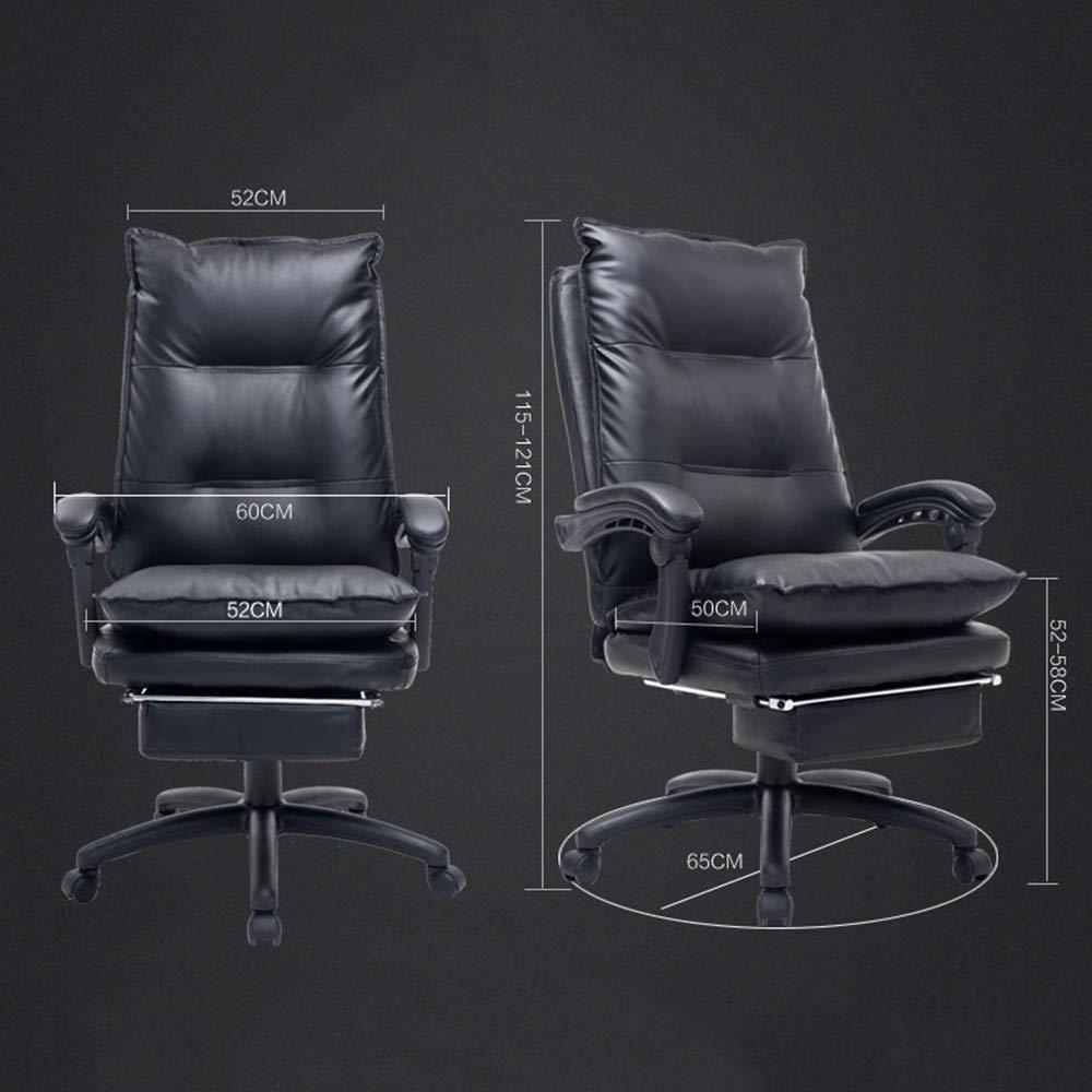 WYY HPLL kontorsstol svängbar stol, förstärkt dator kontorsstol chef vilande ankarstol spelspel ryggstöd svängbar stol – bilayer ryggstöd och kudde svängbar stol (färg: A) a