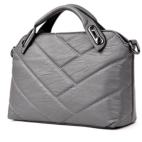 GWQGZ Pu Xiekua Moda Bolso Package Bolso Gray Nuevo Señoras Brown rB7qra