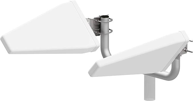 Juego de antena para router LTE Log MIMO 4G 800/900/1800/2100/2600MHz|aumento de potencia hasta 20 dB(i)|incl. 8 adaptad. CRC9/TS9/FME/SMA OUTDOOR ...