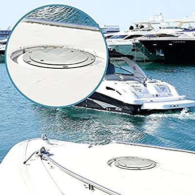 """Salty Reef Marine Hardware S5"""" Boat Deck Plate by Made from Heavy Duty 316 Marine Grade Stainless Steel"""