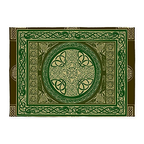 CafePress - Celtic Blanket - Decorative Area Rug, 5'x7' Throw (Celtic Cross Throw)