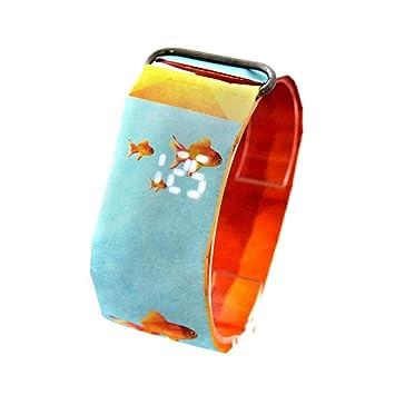 Teepao Reloj Digital de Papel, Reloj de Pulsera y Reloj de Pulsera, Reloj Digital