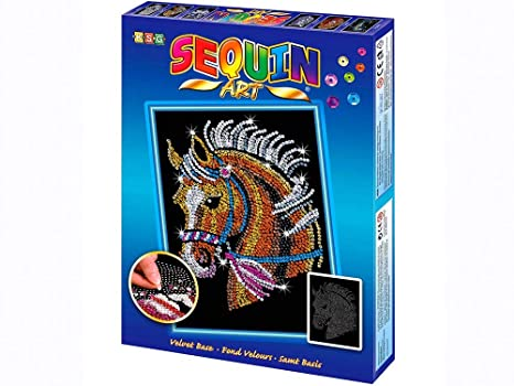 Amazon Com Sequin Art Blue Horse Sparkling Arts And Crafts