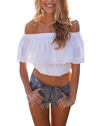 ZANZEA Blusa Camiseta Casual Elegante Verano Playa Algodón ...